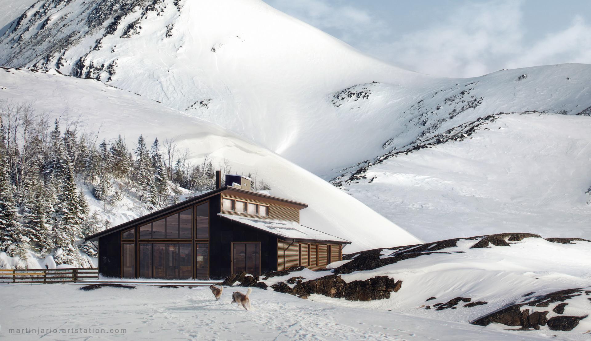 Martin jario artstation martinjario snowy mountains b