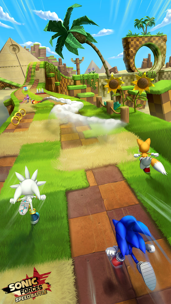Green Hill Zone Concept for Sonic Forces: Speed Battle, Copyright SEGA 2017