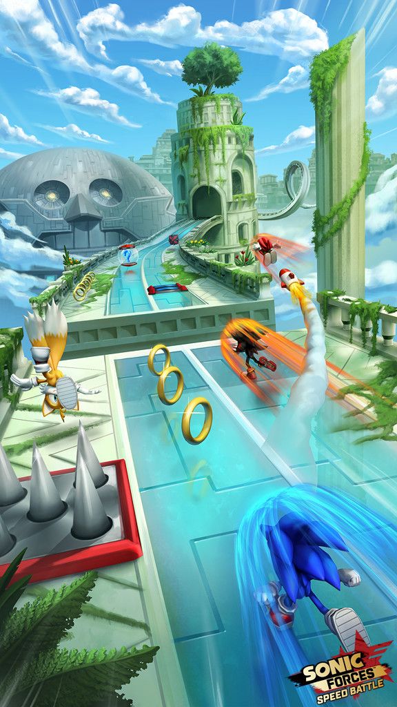 Sky Sanctuary Concept for Sonic Forces: Speed Battle, Copyright SEGA 2017