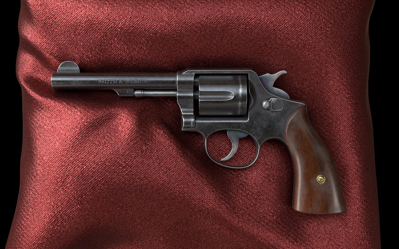 ArtStation - Smith & Wesson Revolver, Andrew Nekrasov