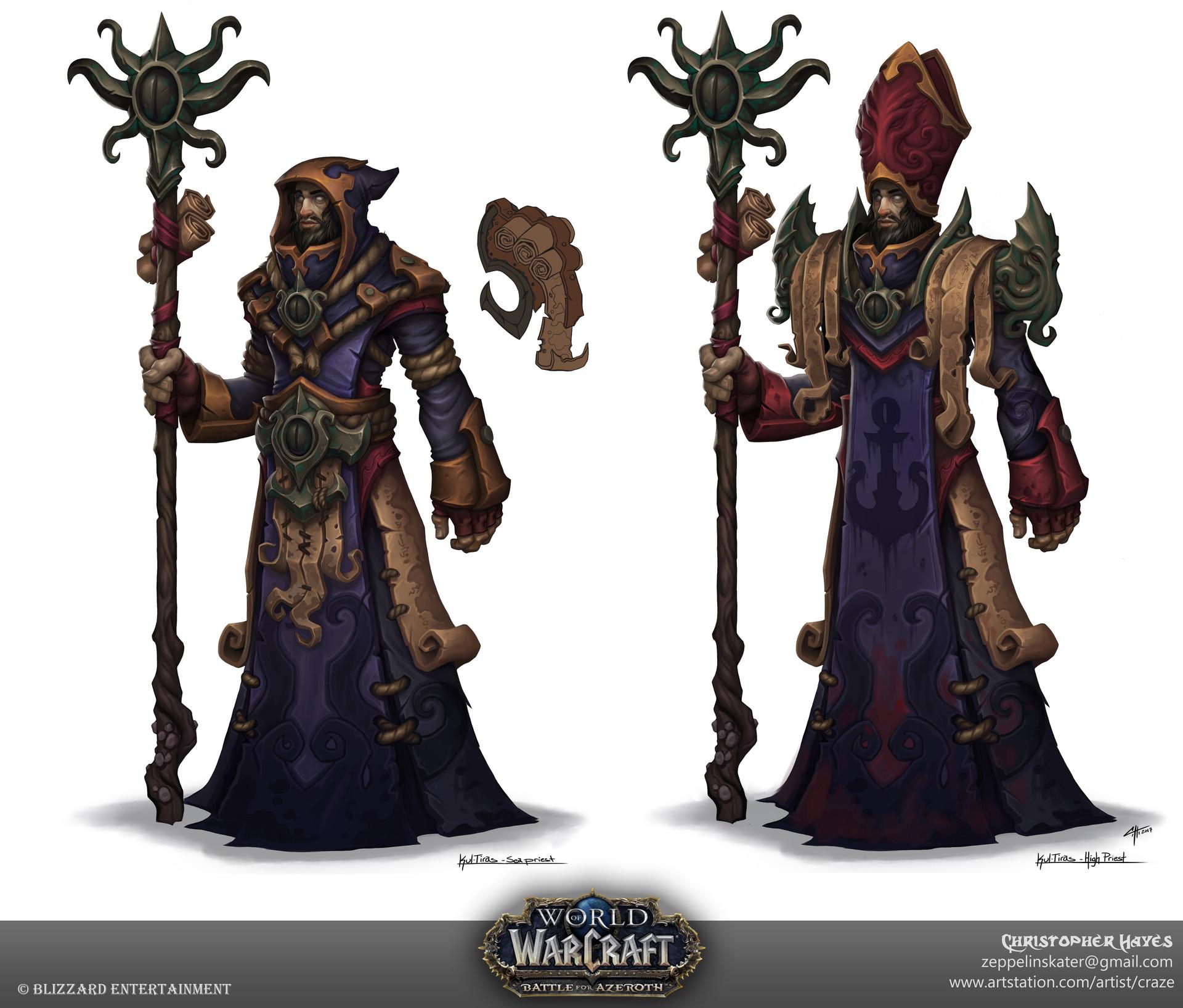 ArtStation - Sea Priest design for World of Warcraft ... Pictures Of Warcraft
