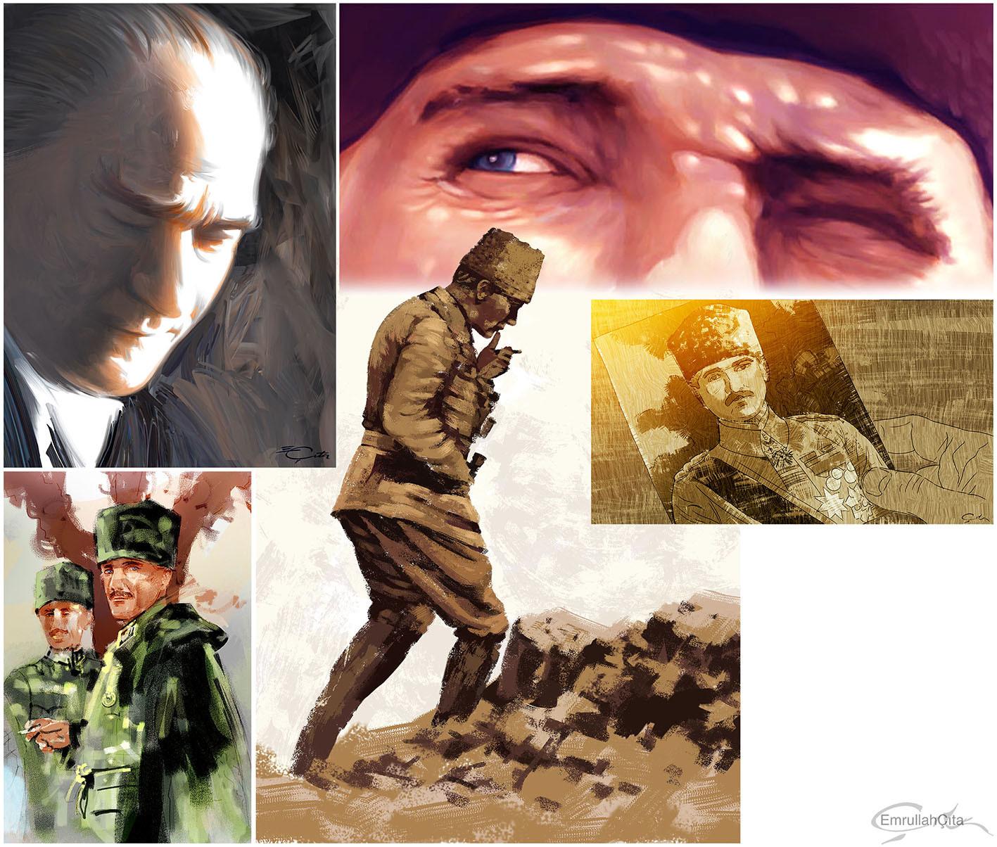 Emrullah cita turkish commander ataturk l