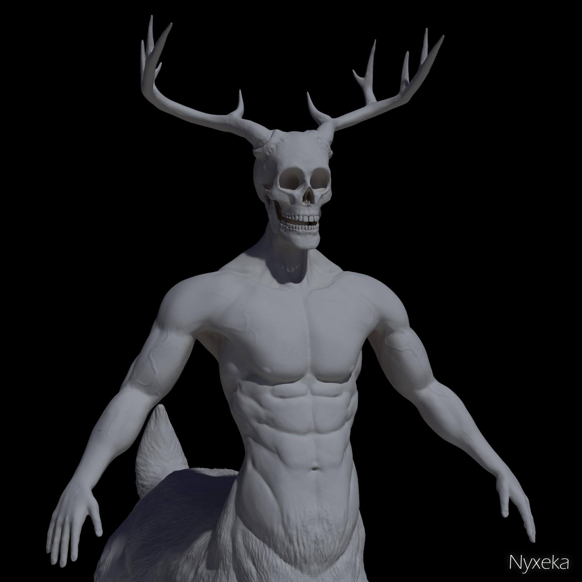 Nicholas hylands cervitaur sculpt render nyxeka