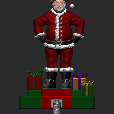 Josh simon santa claus stocking hanger