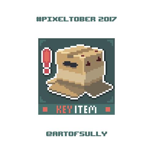 #pixeltober - Day 31 - 'Cardboard Box (Metal Gear Solid)'
