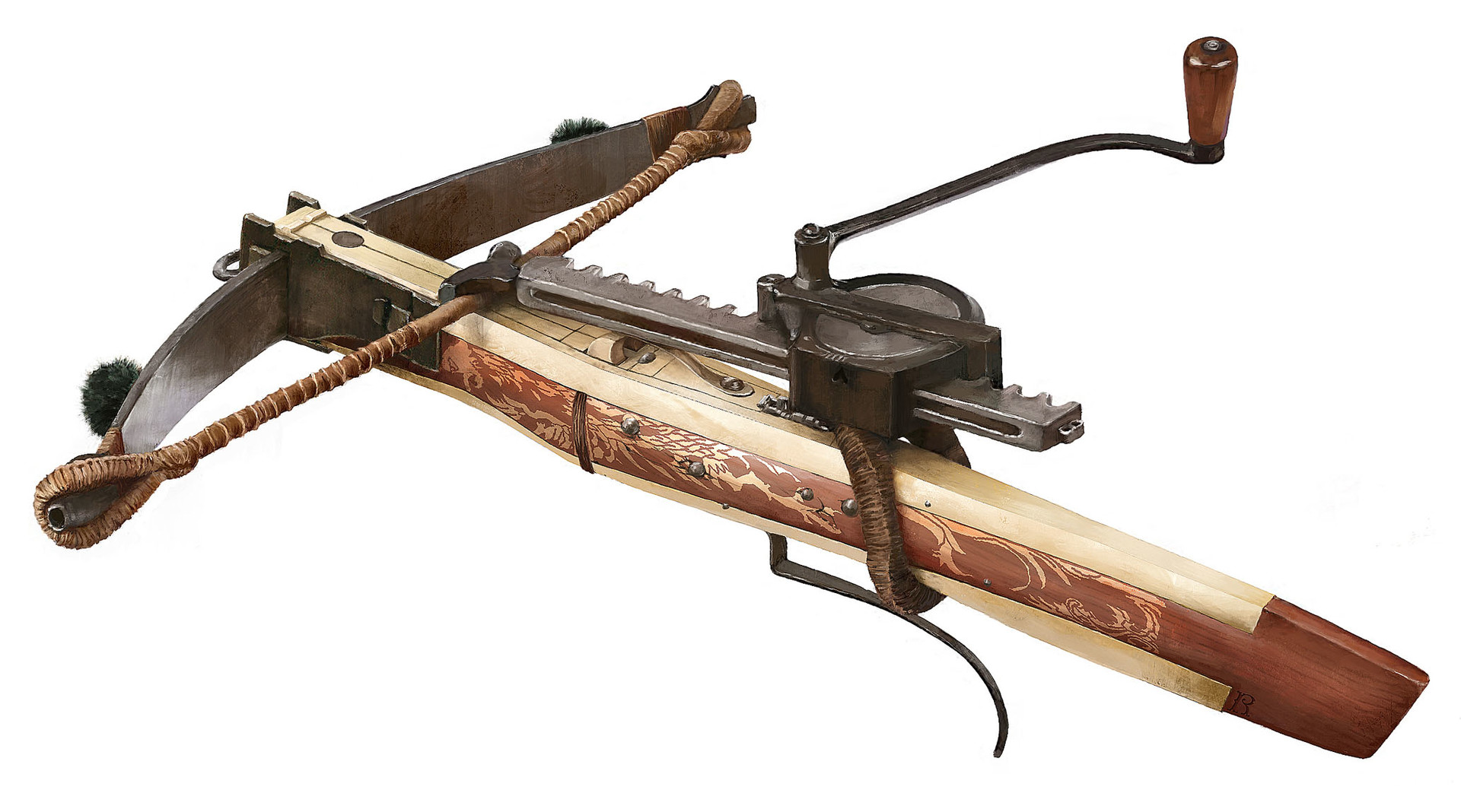 ArtStation - Medieval crossbow reconstruction, Rocío Espín Piñar