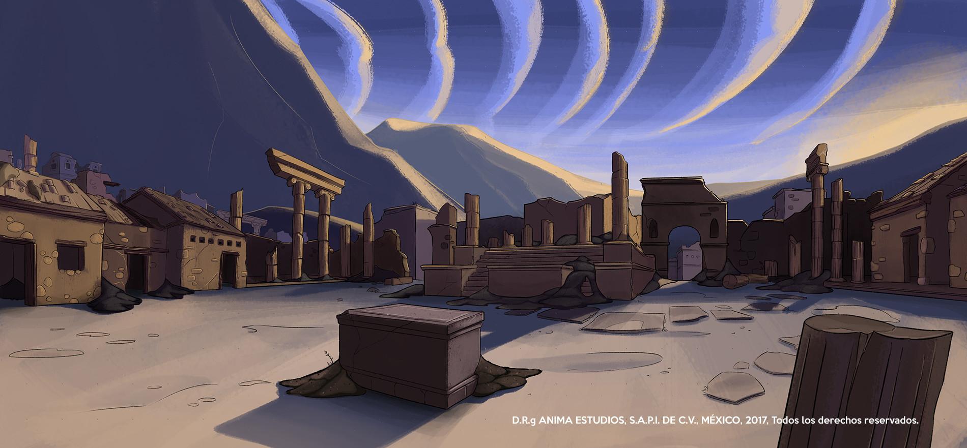 Mauricio morali pompeiitownsquareextsunrise