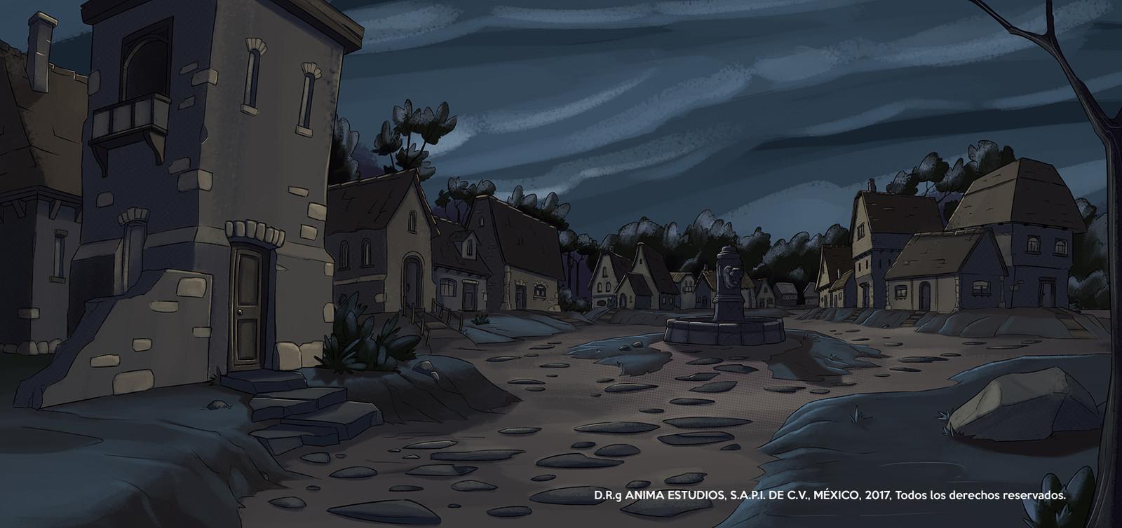 The Scandinavian town.