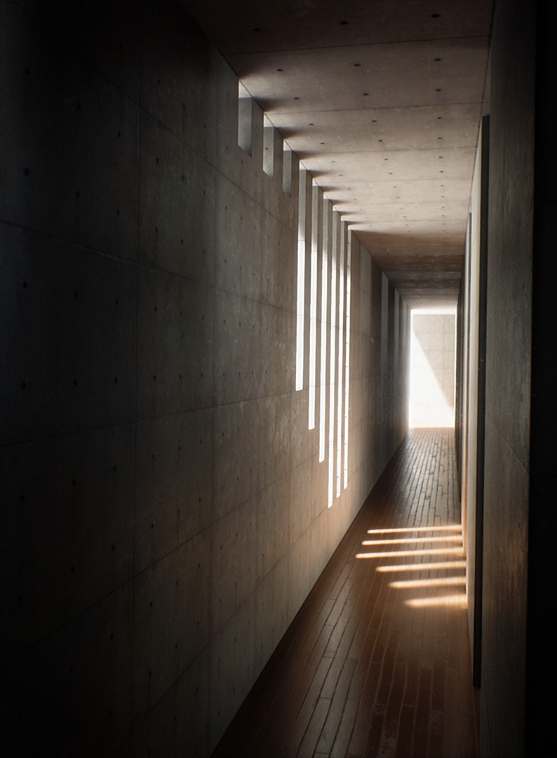 Lighting study in Unreal Engine (Koshino House, Tadao Ando)
