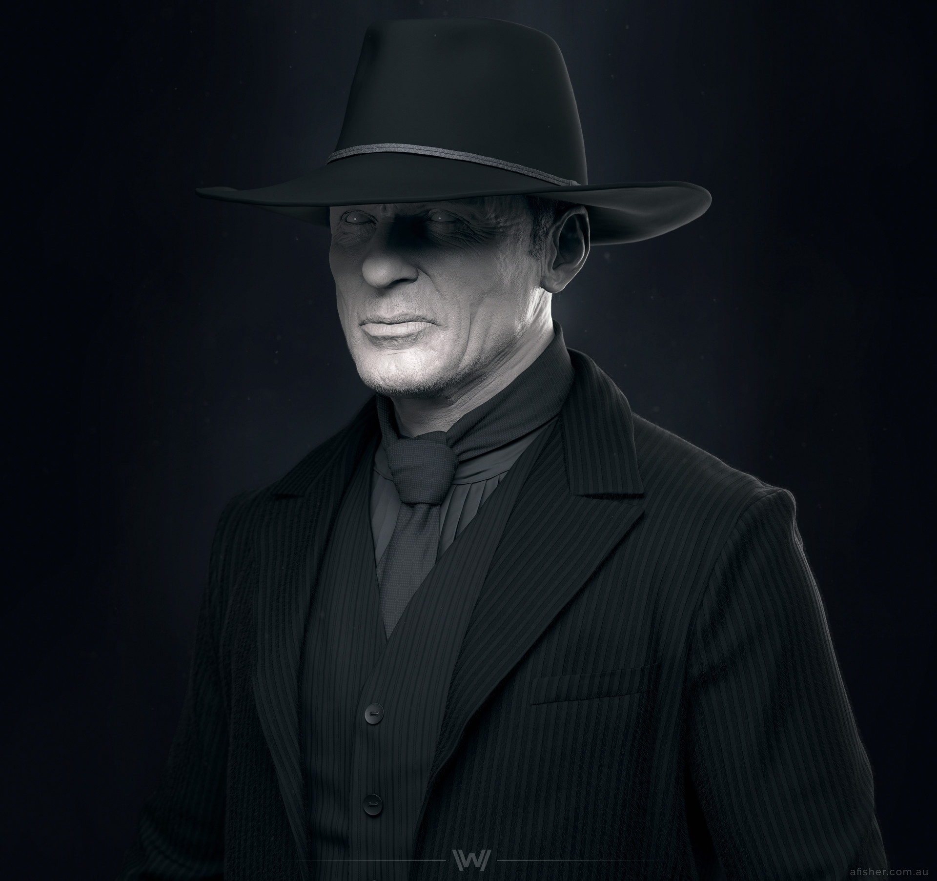 artstation - the man in black, adam fisher