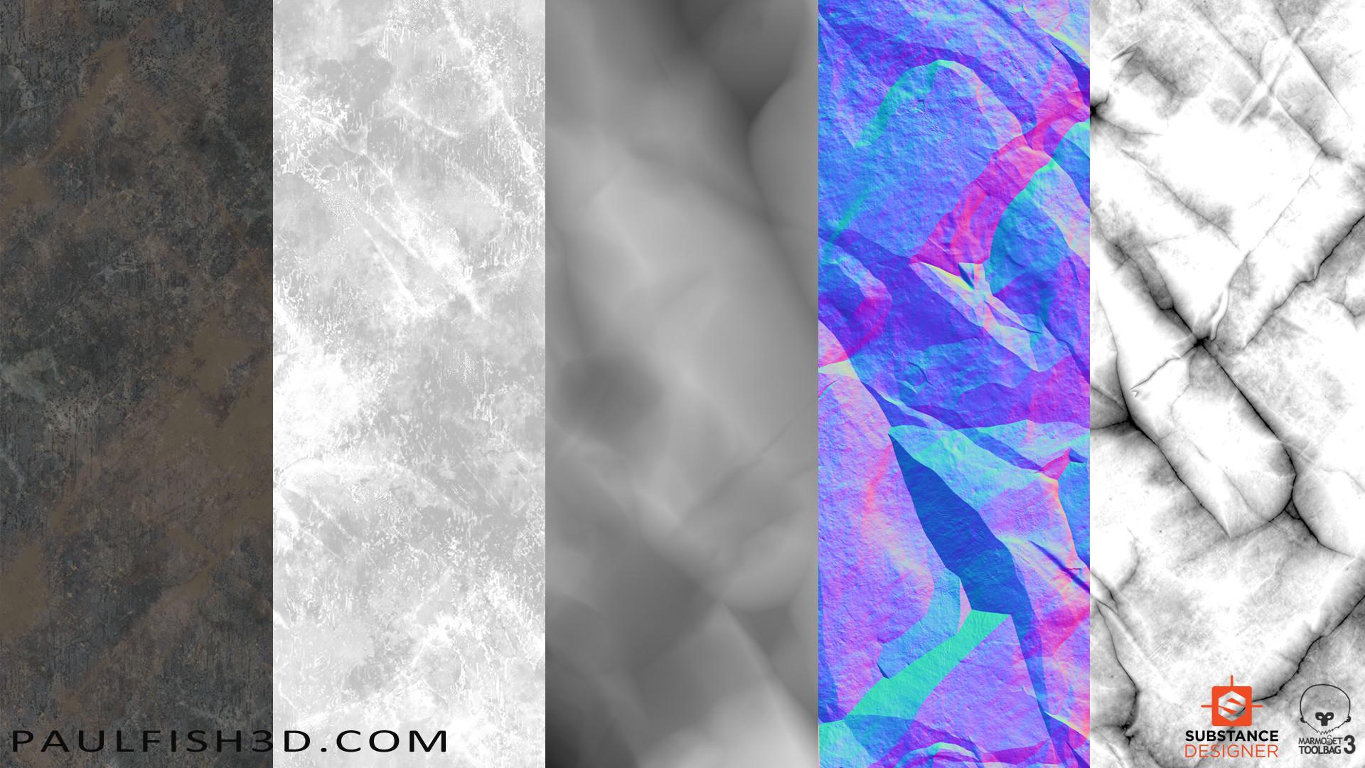 Paul fish stone cliff dark textures