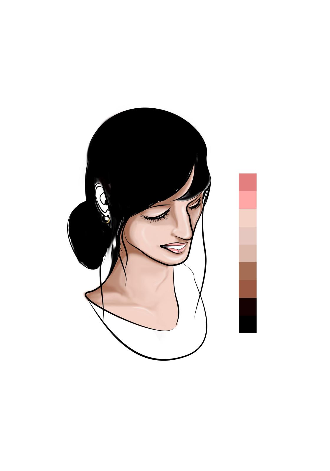 Ten - Base coloring more detail (Hair)