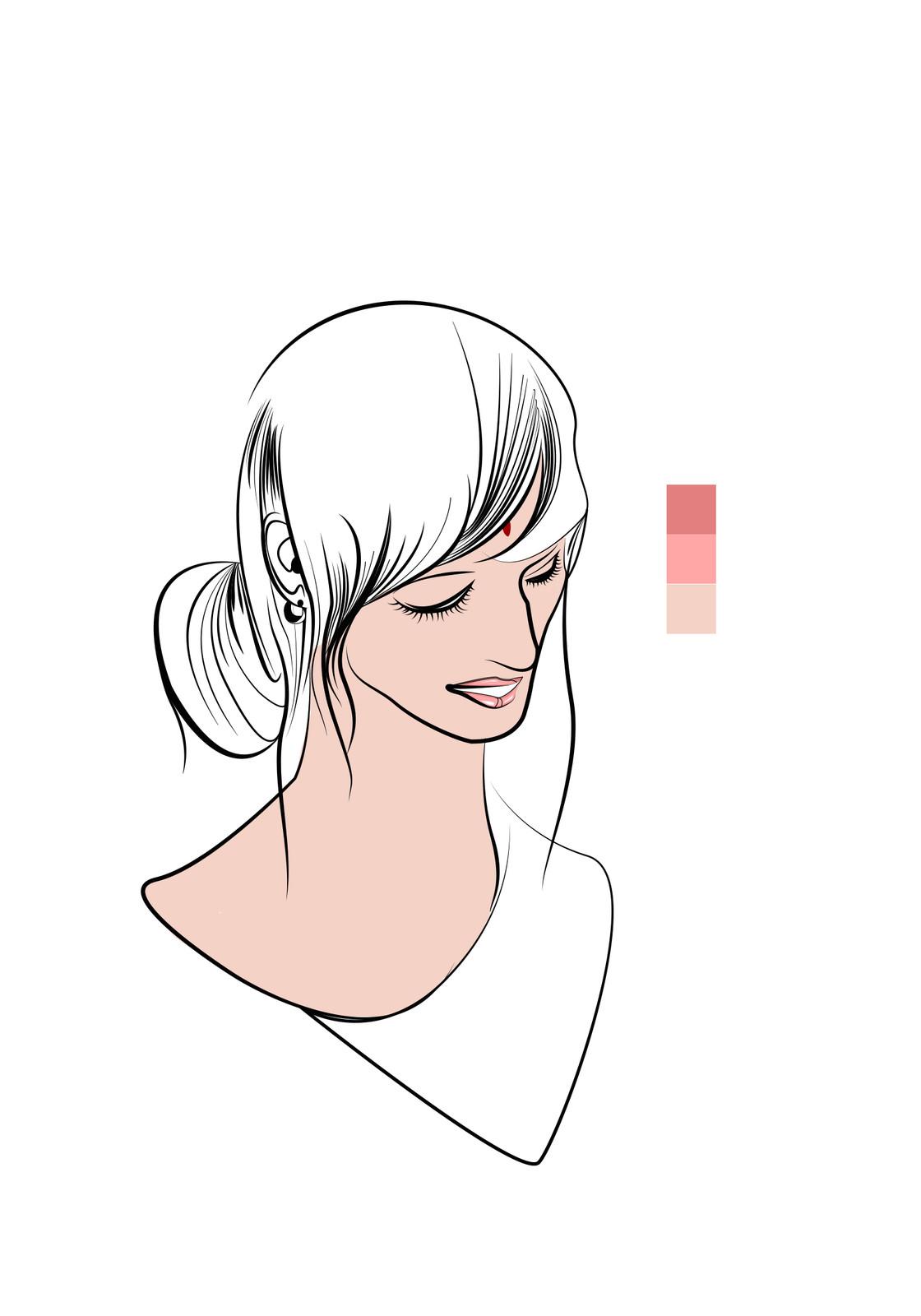 five- Base coloring(Skin)