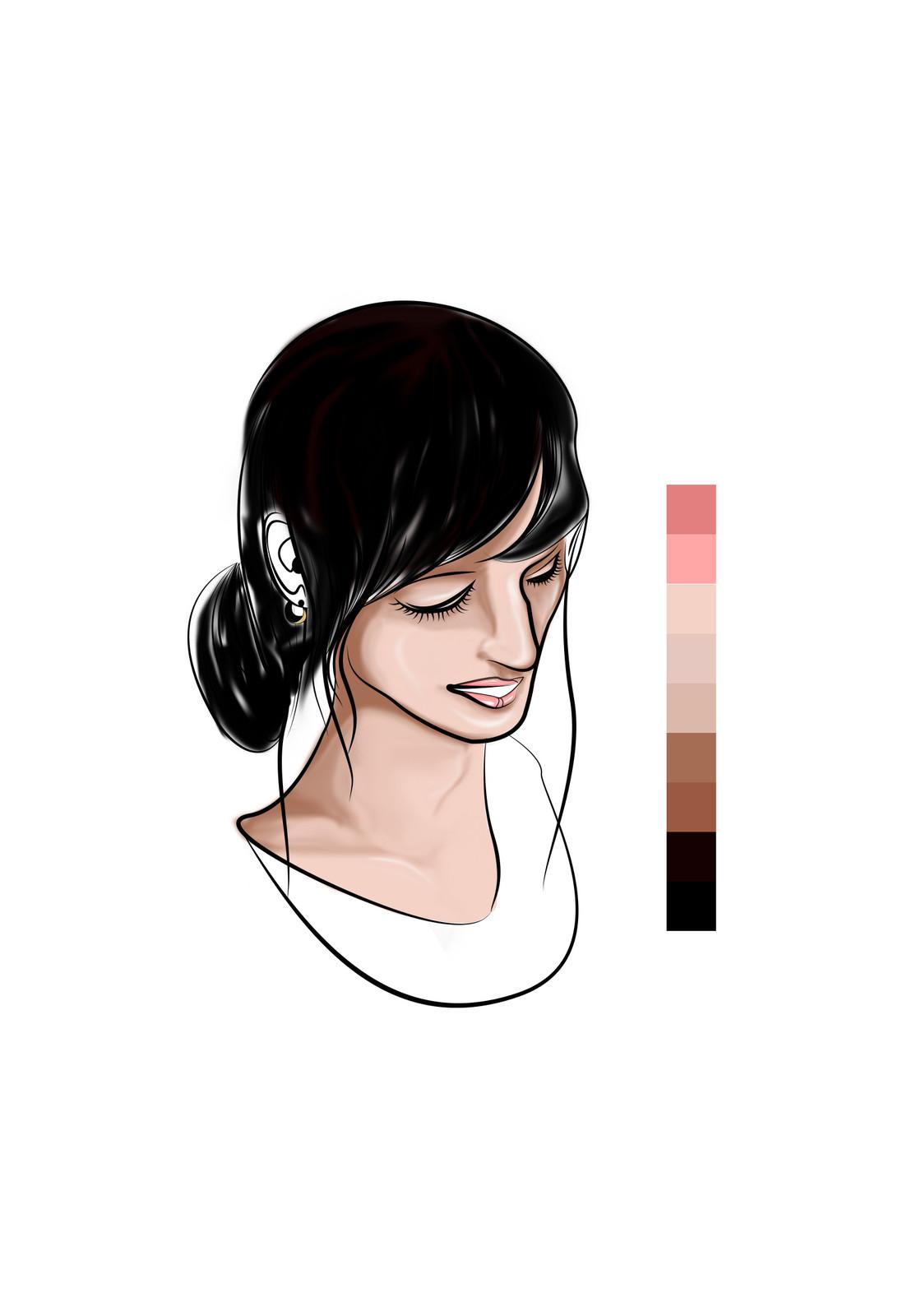 nine - Base coloring more detail (Hair)