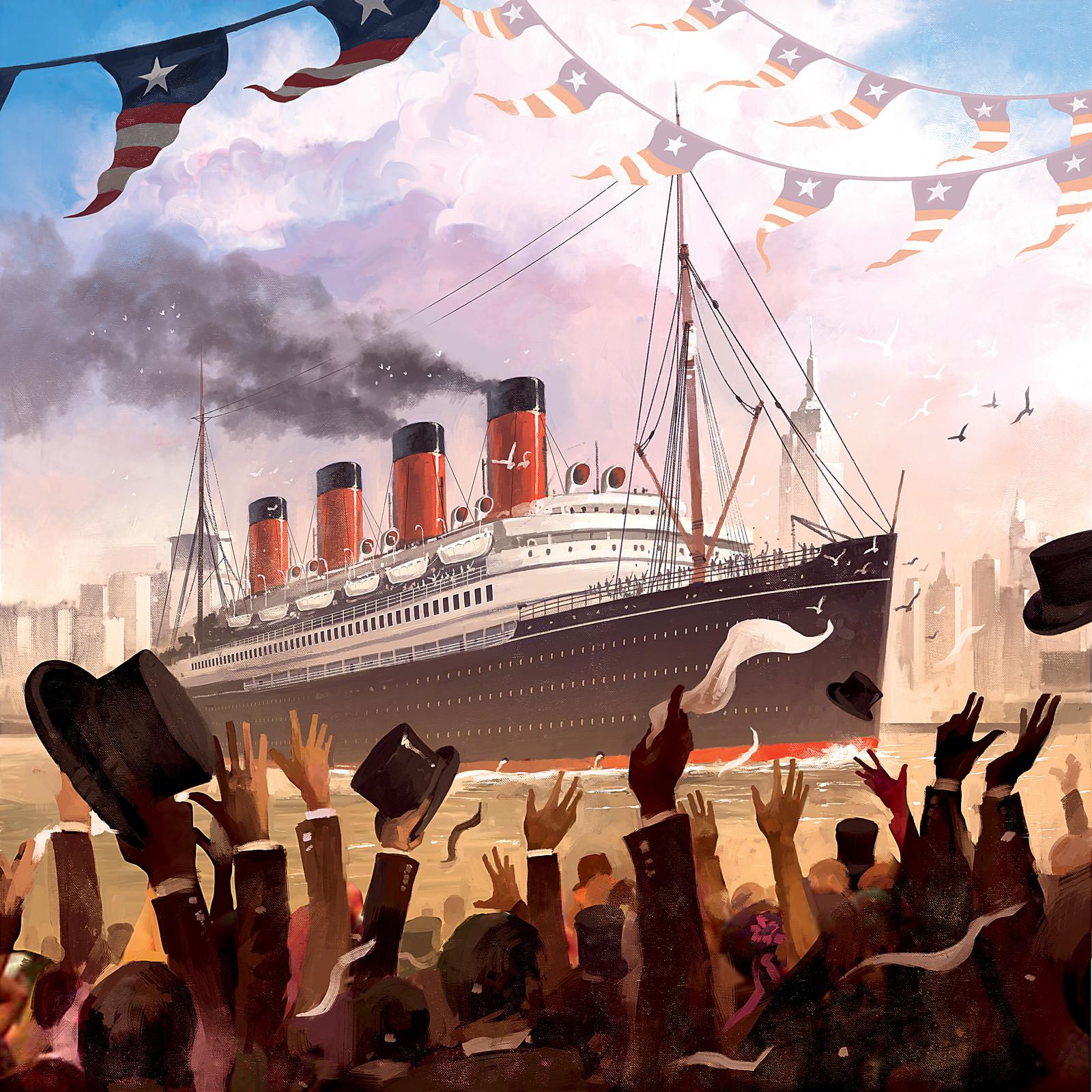 Transatlantic Boardgame Illustrations