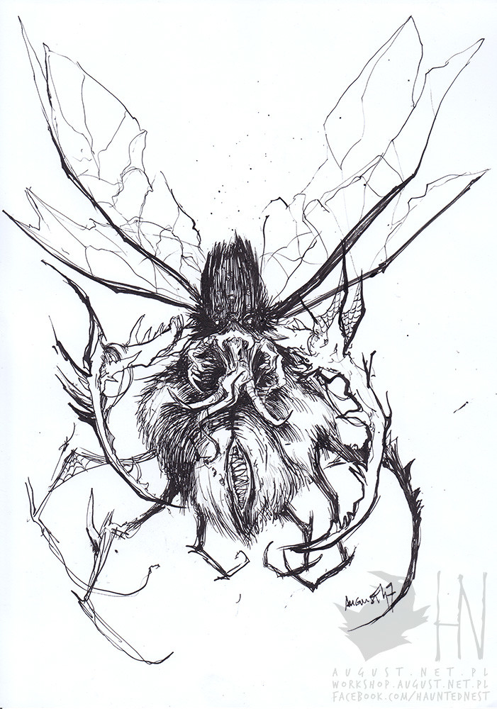 day 2 || Scary Spider [I'm afraid of spiders, but vision of flying spiders was always most terrifying for me]