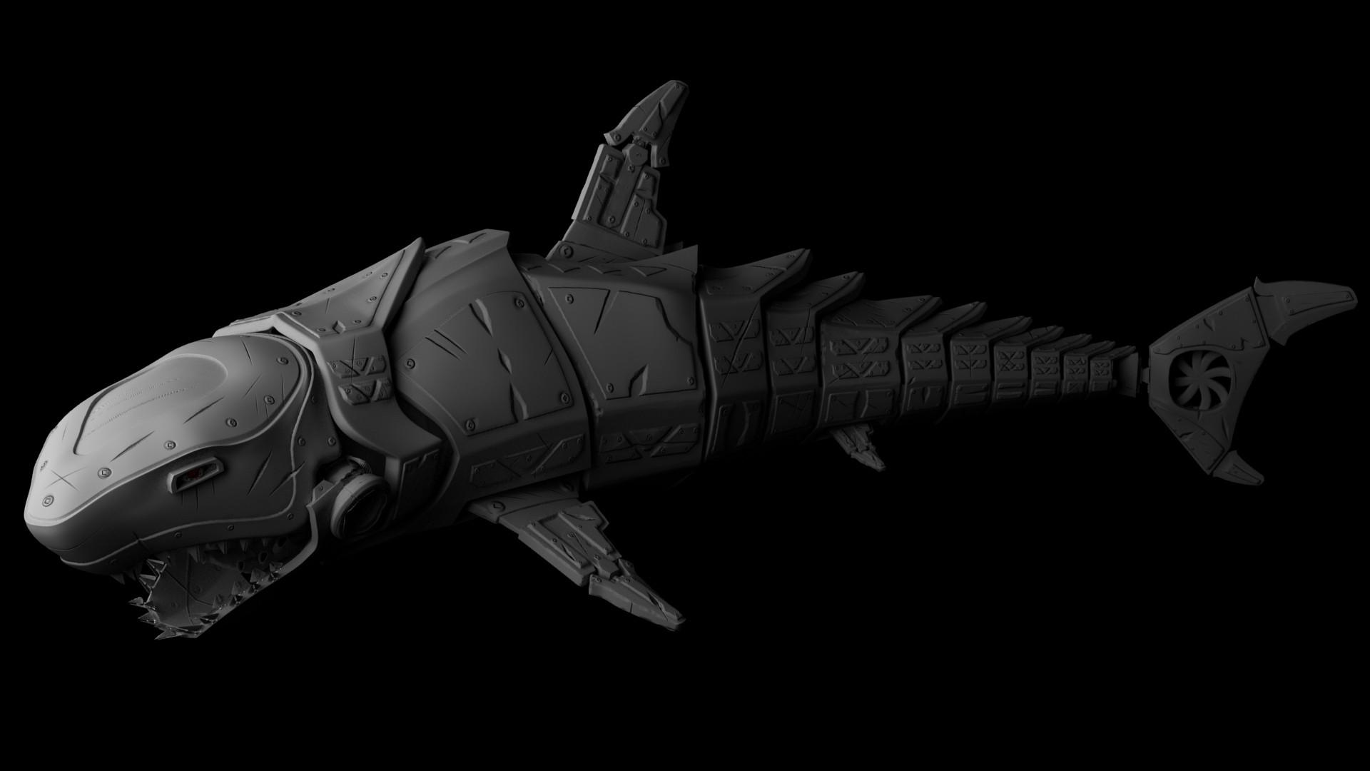ArtStation - Mecha Shark, Filippo Nicea Bovolini