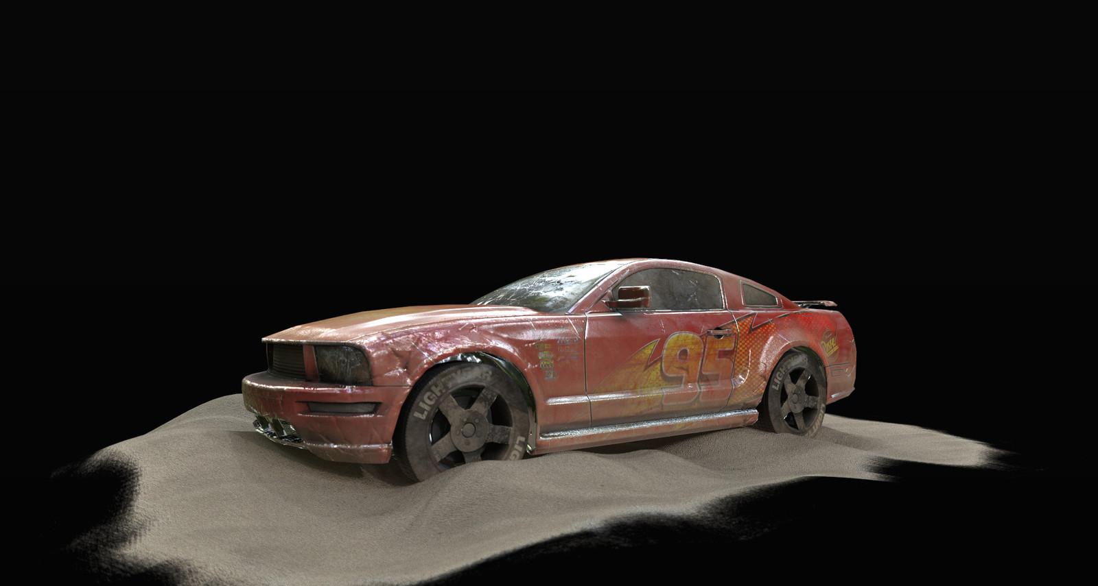 Sketchfab Texturing Challenge - car desert