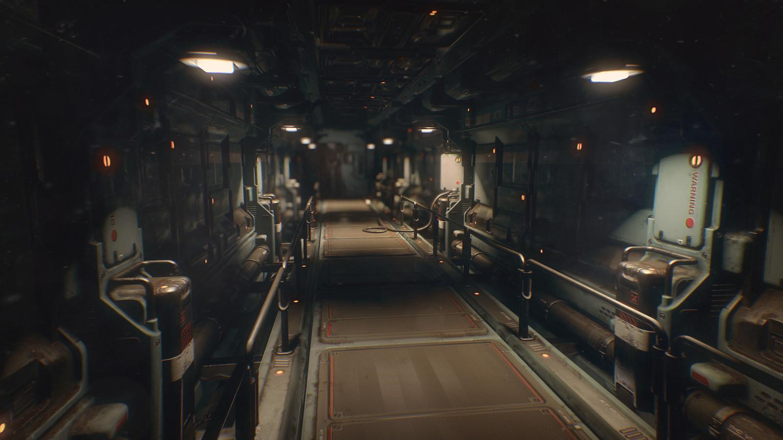 Sci-Fi Corridor. Modular environment.