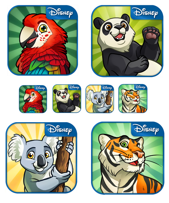 Disney Animal Kingdom Explorers - animal concept art
