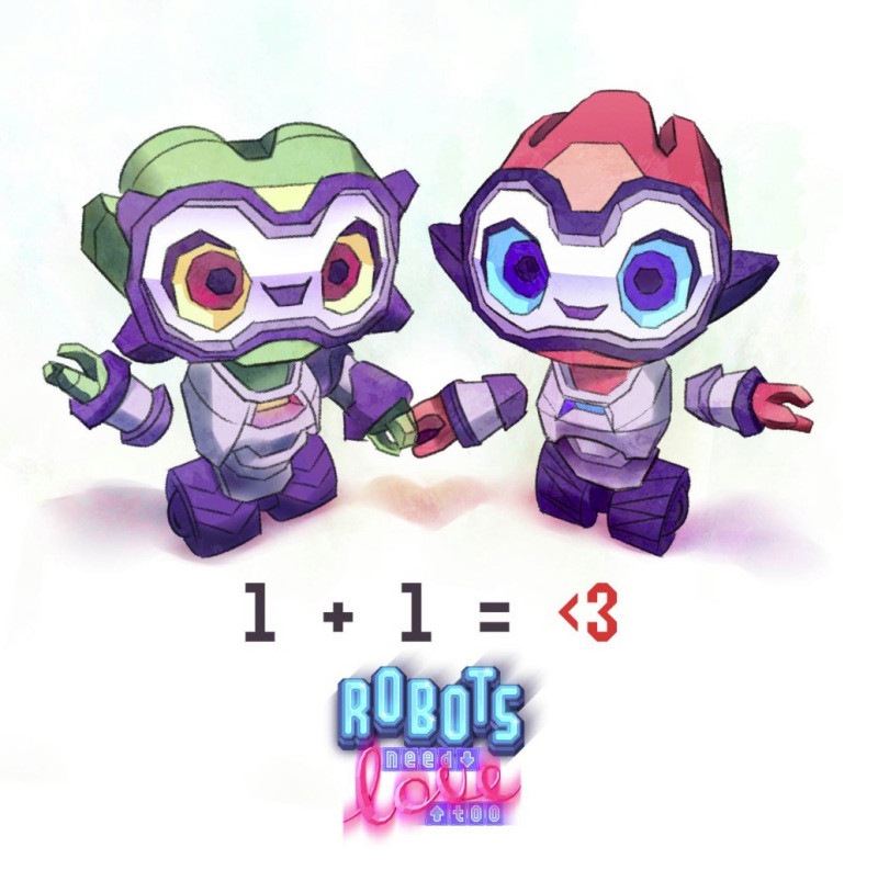 Robots Need Love Too - Promo illustrations