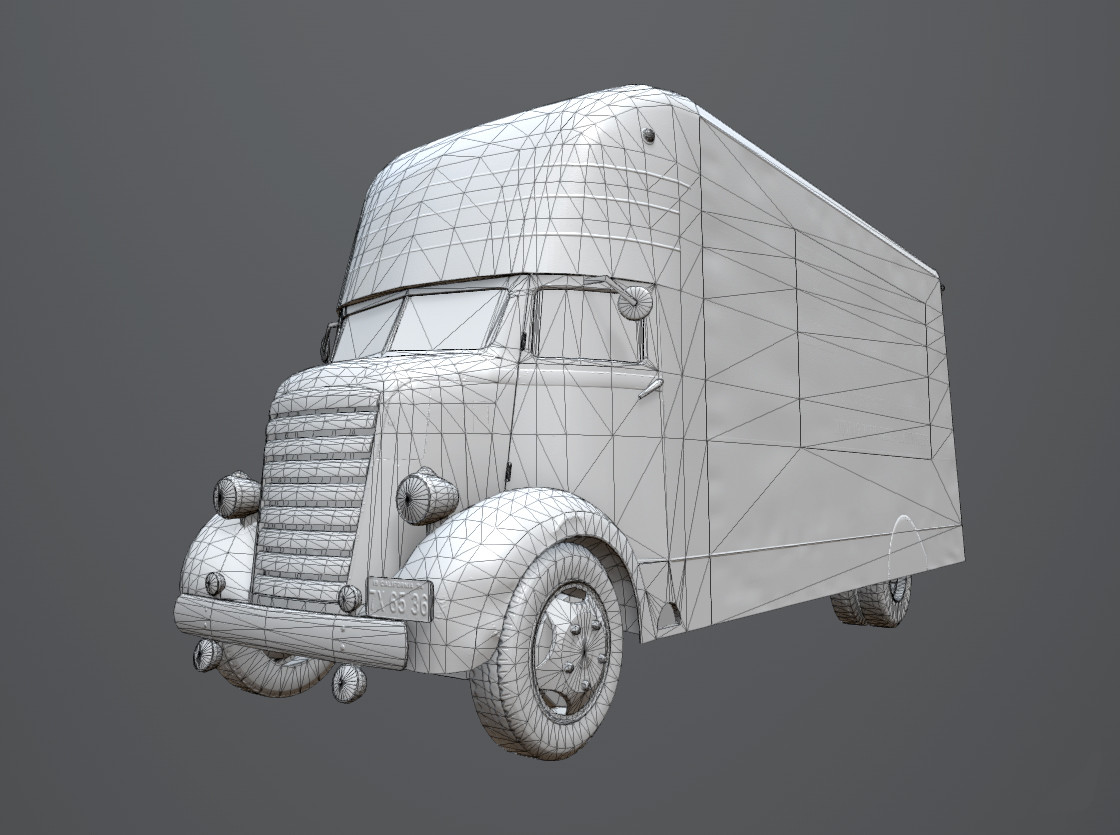 Wireframe (optimized for real- time/ in- game usage)