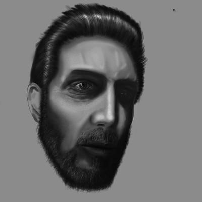 Nikolay krastev portrait study