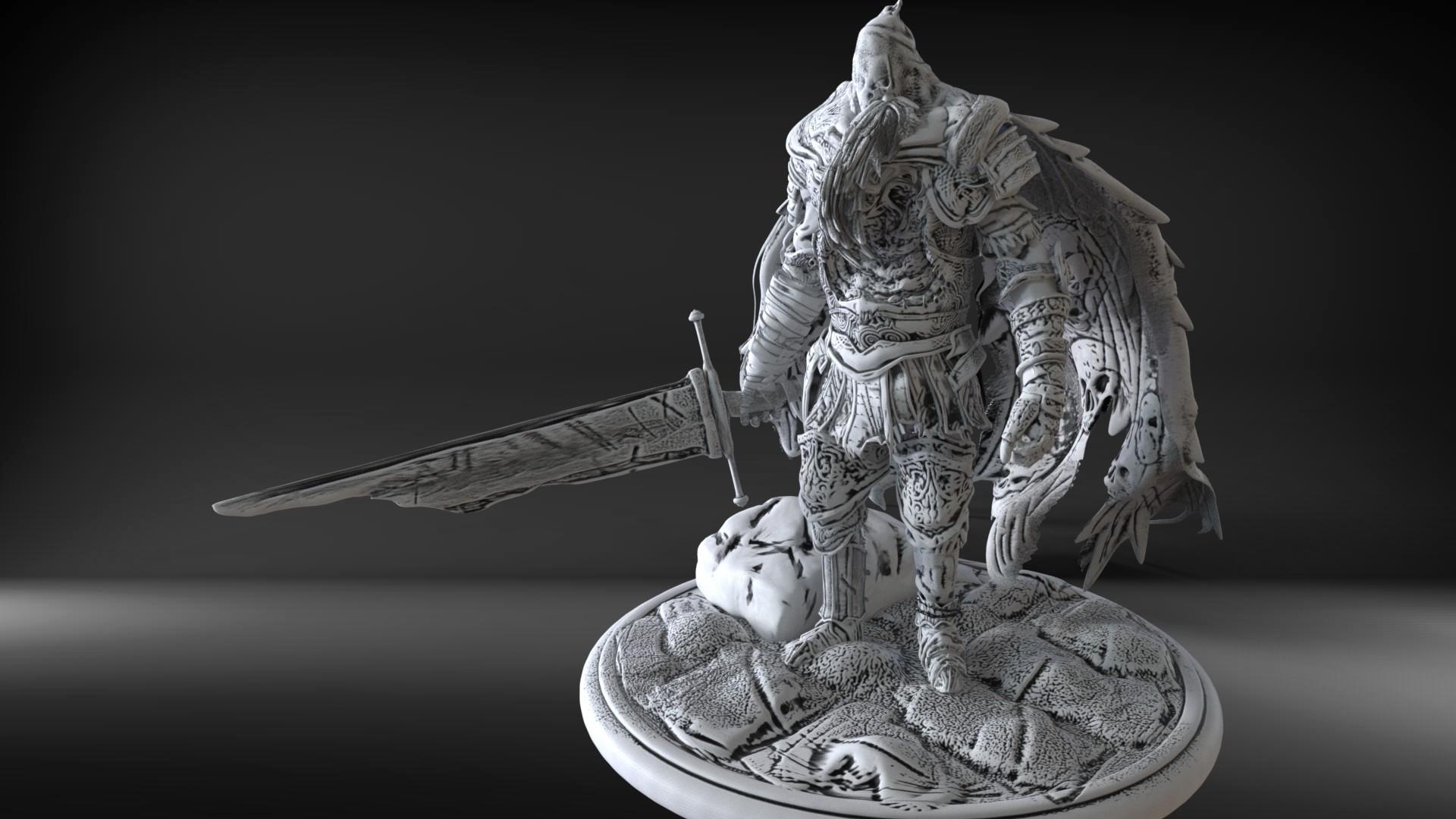 John Agnew Gael The Slave Knight Boss Fight 3d Print