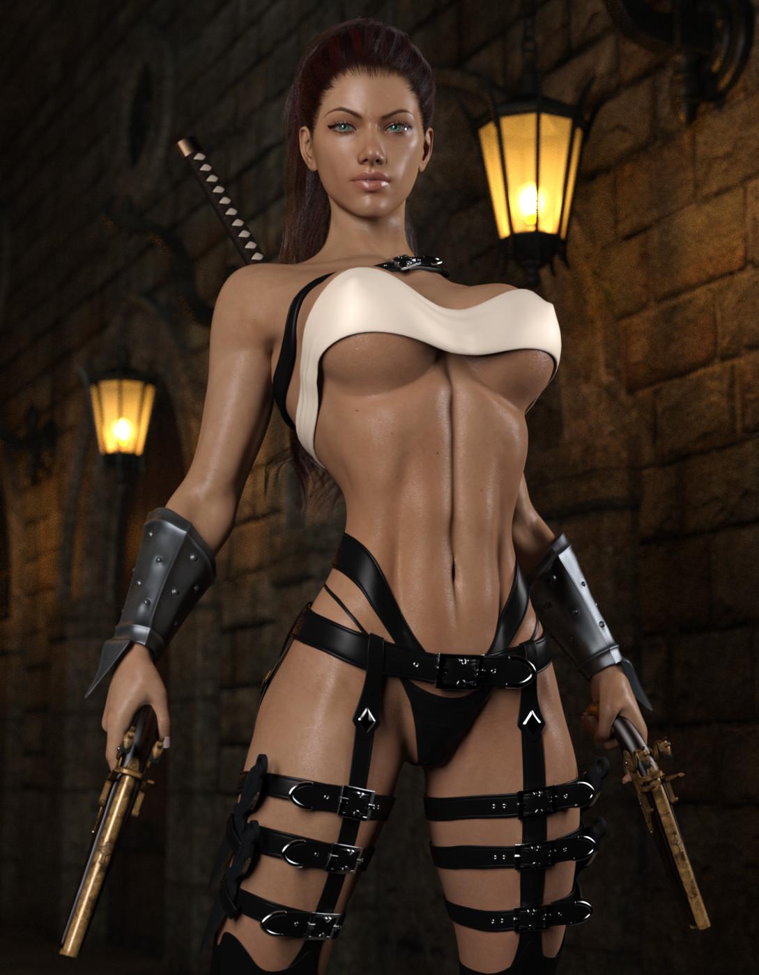 3D Sexy Game artstation - kasta - assassin (update), str4hl 3d