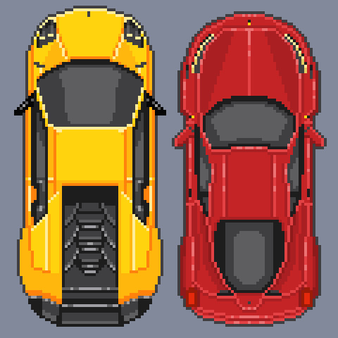 Artstation Pixel Art Super Cars Michał Kalinowski