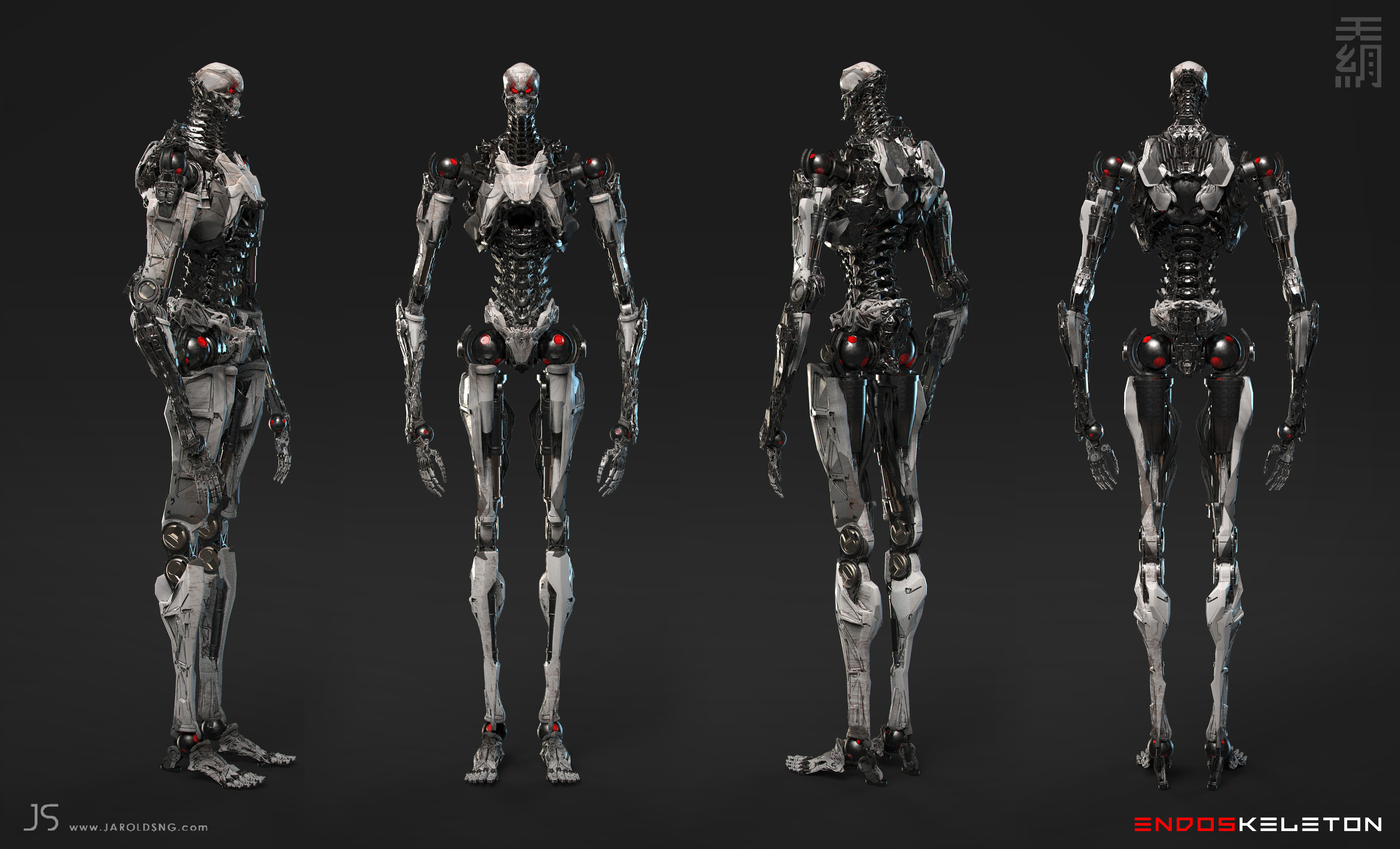 Full Turnaround- All shading was done in Keyshot. No UVs; poly cleanup