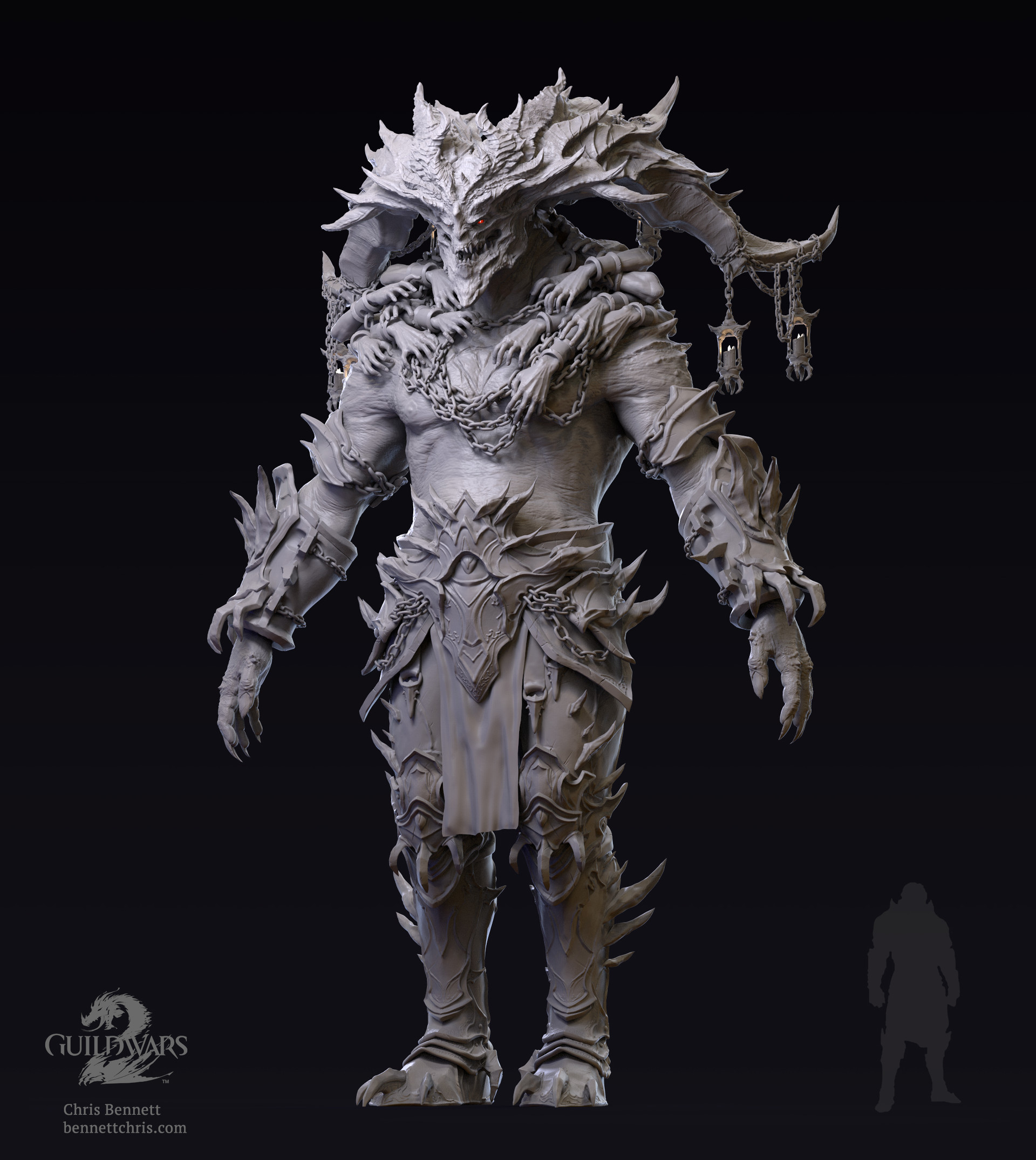 Chris bennett artstationimages saulsdemon keyshot fullfront