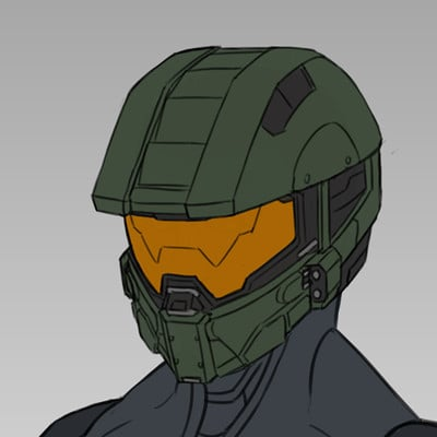 Corvin Stichert Halo 5 Helmet Redesigns