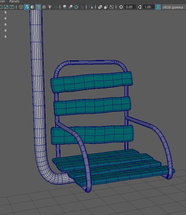 Chair model in maya