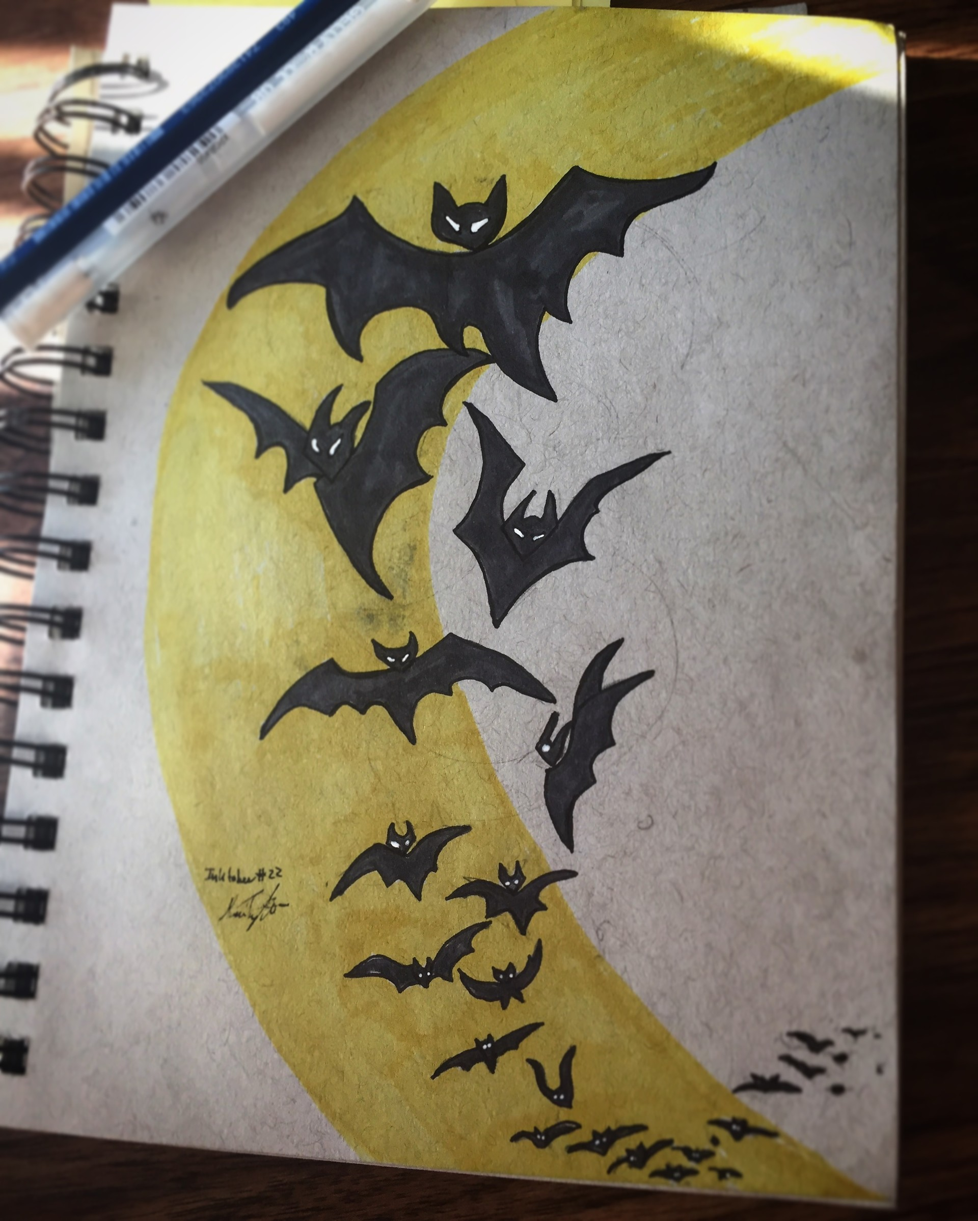Some random trail of bats sketch