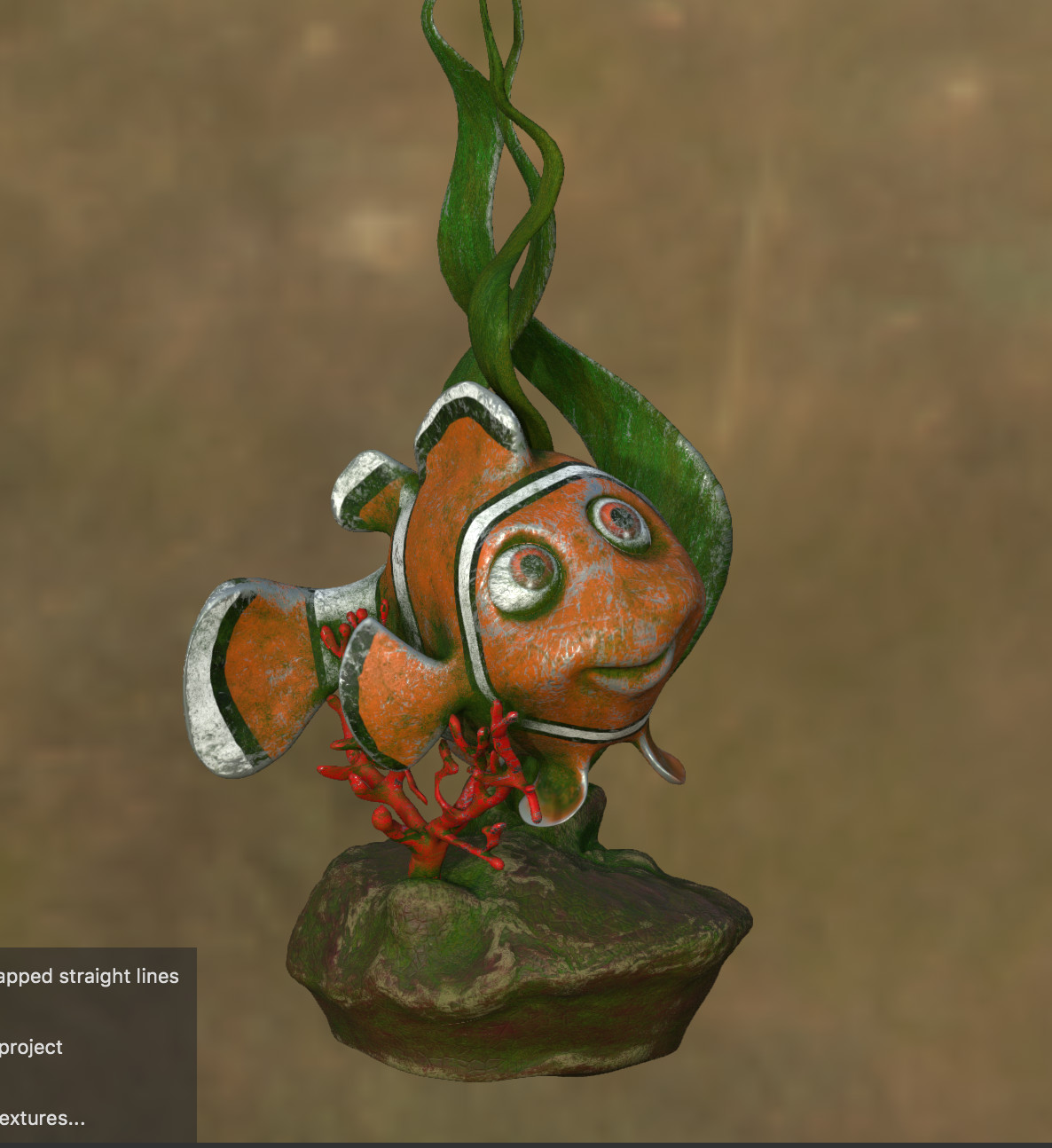 experimenting with mossy nemo in substance painter