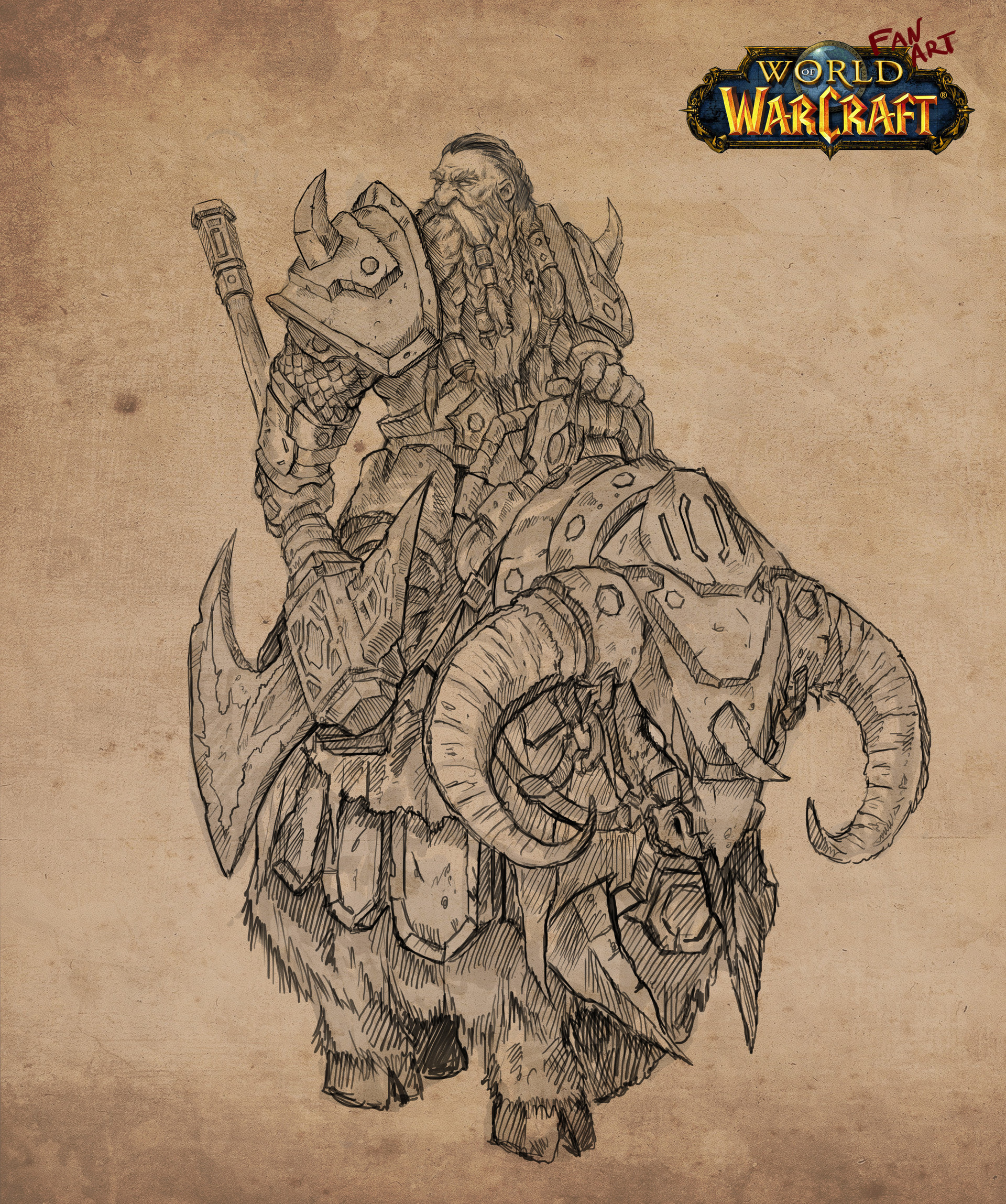 Artstation Dwarfs Sketches Wow Fan Art Series Tony Sart