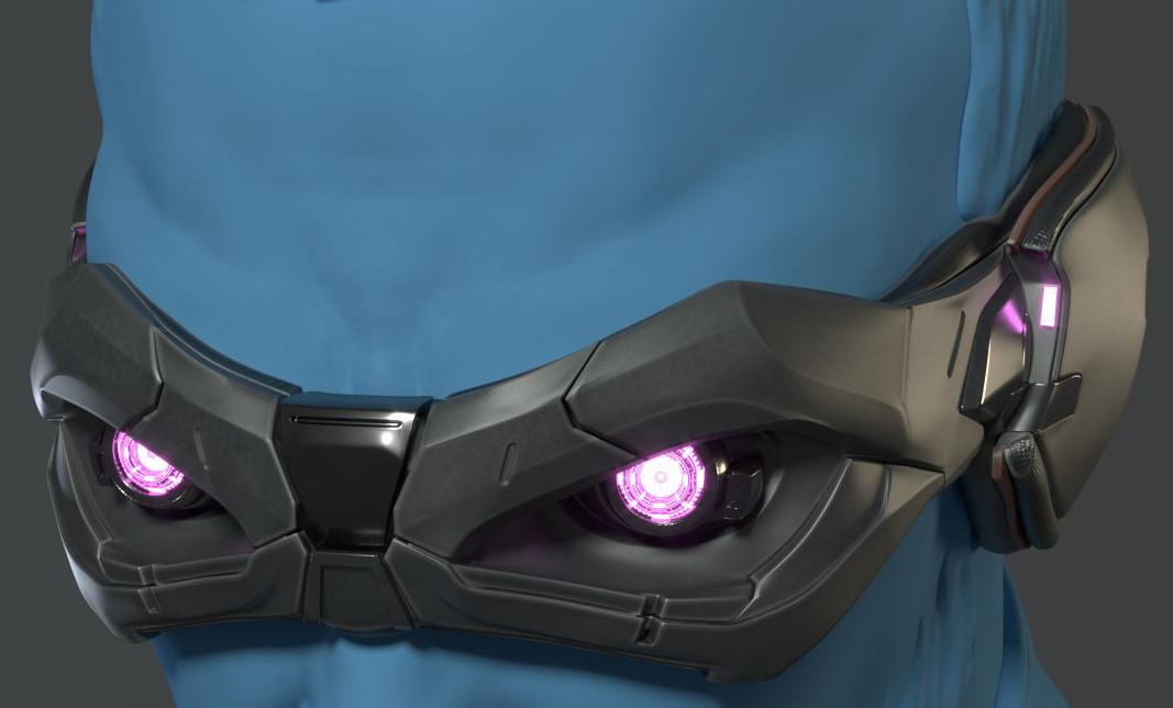 Concept art the robot Mask