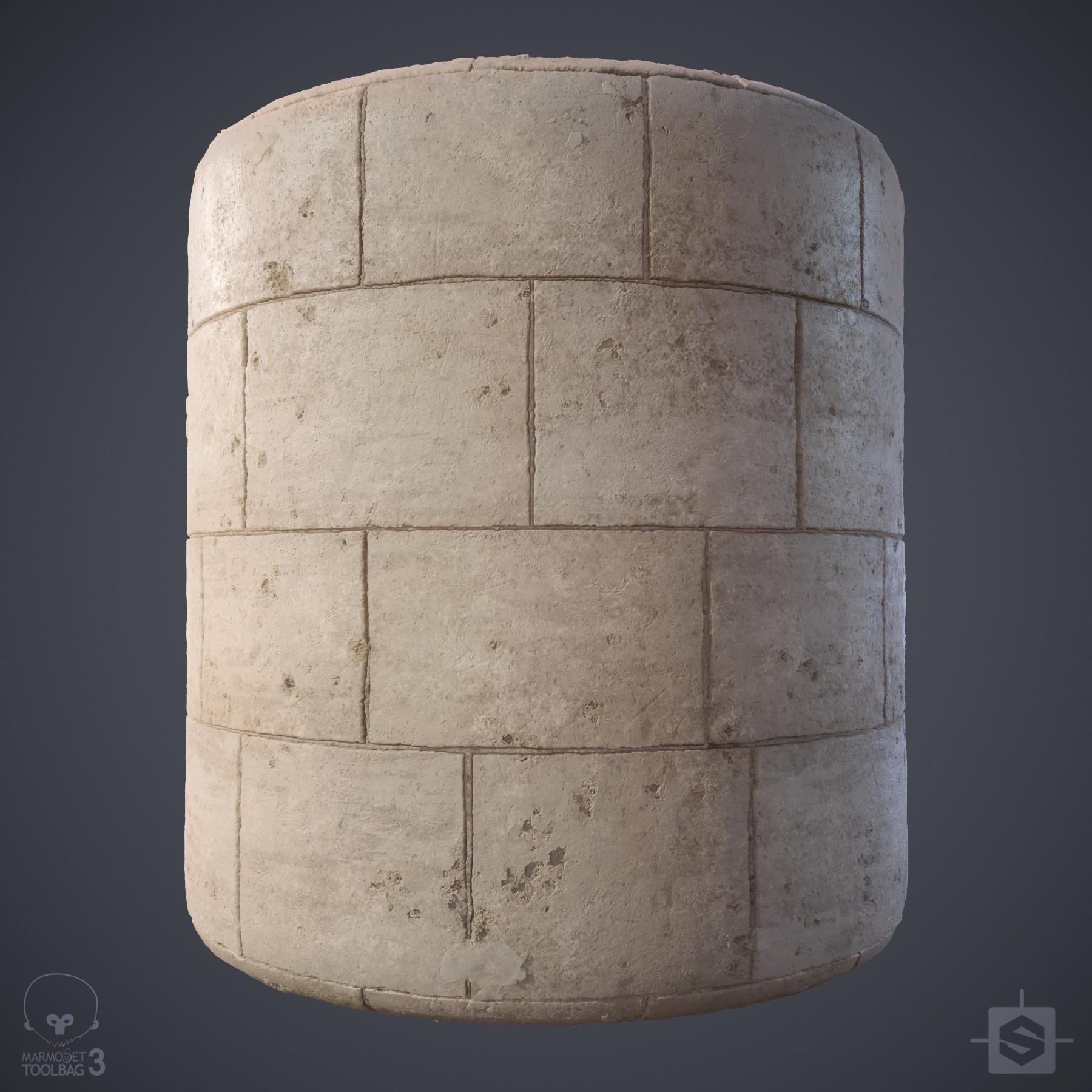 Ryan leslie limestone wall cylinder 01d