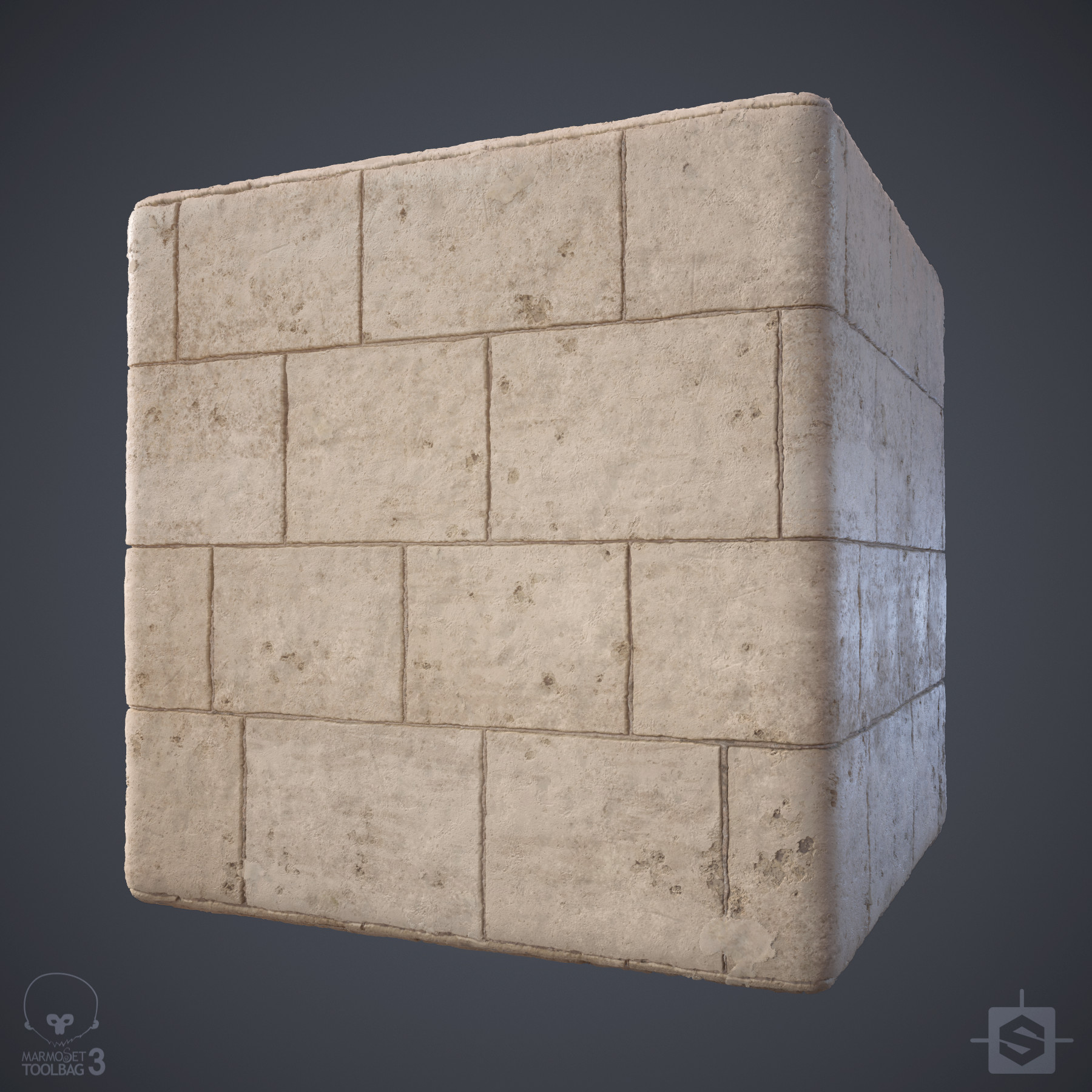 Ryan leslie limestone wall cube 01d