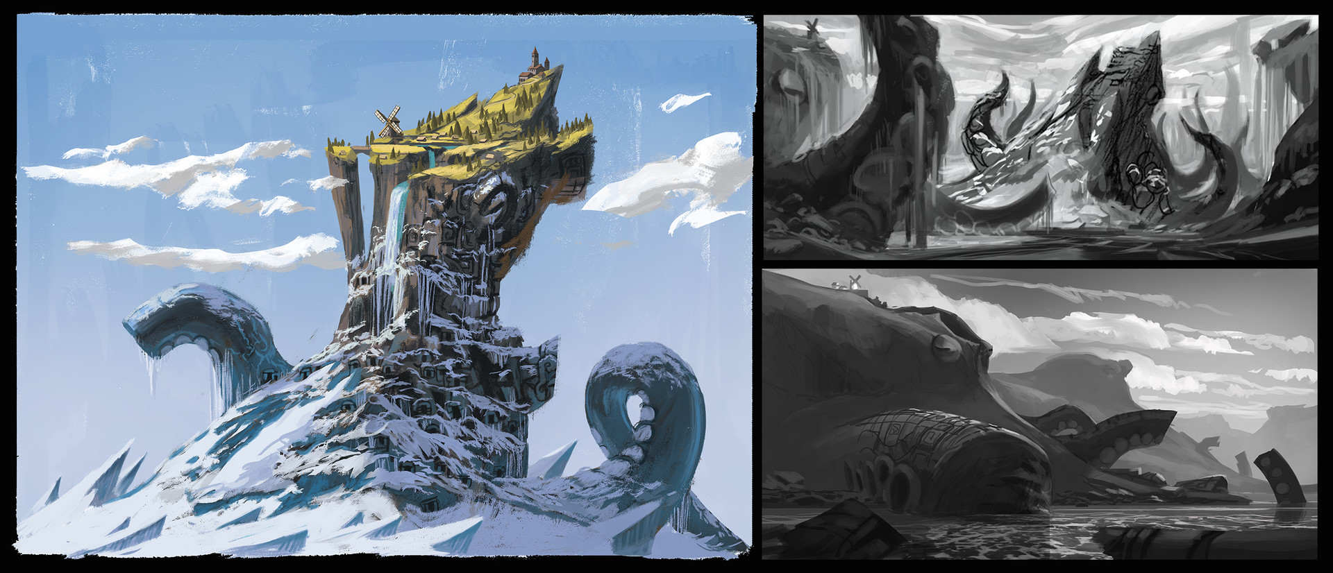 Quentin regnes assets worlds sketches