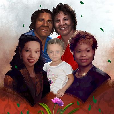 Mal moore ora family portrait 30x24 3000px detailaddweb
