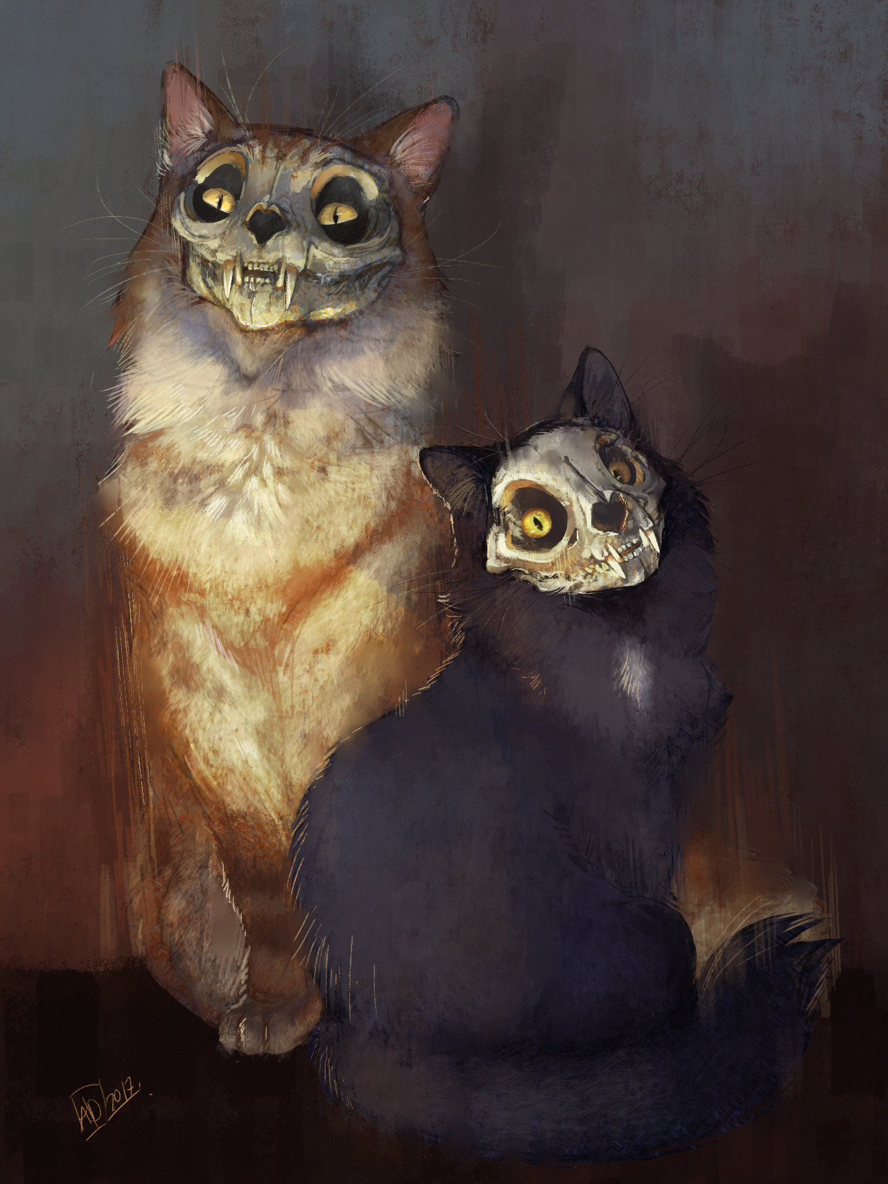 Annie doyon cats painting
