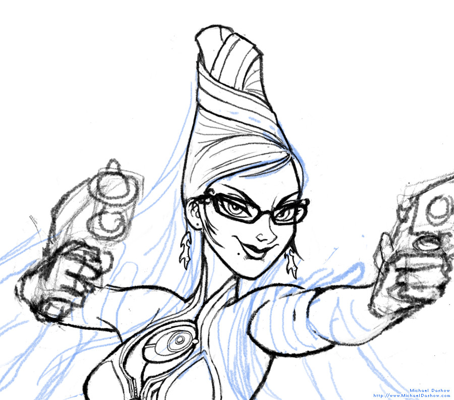 Michael dashow bayonetta sketch 02
