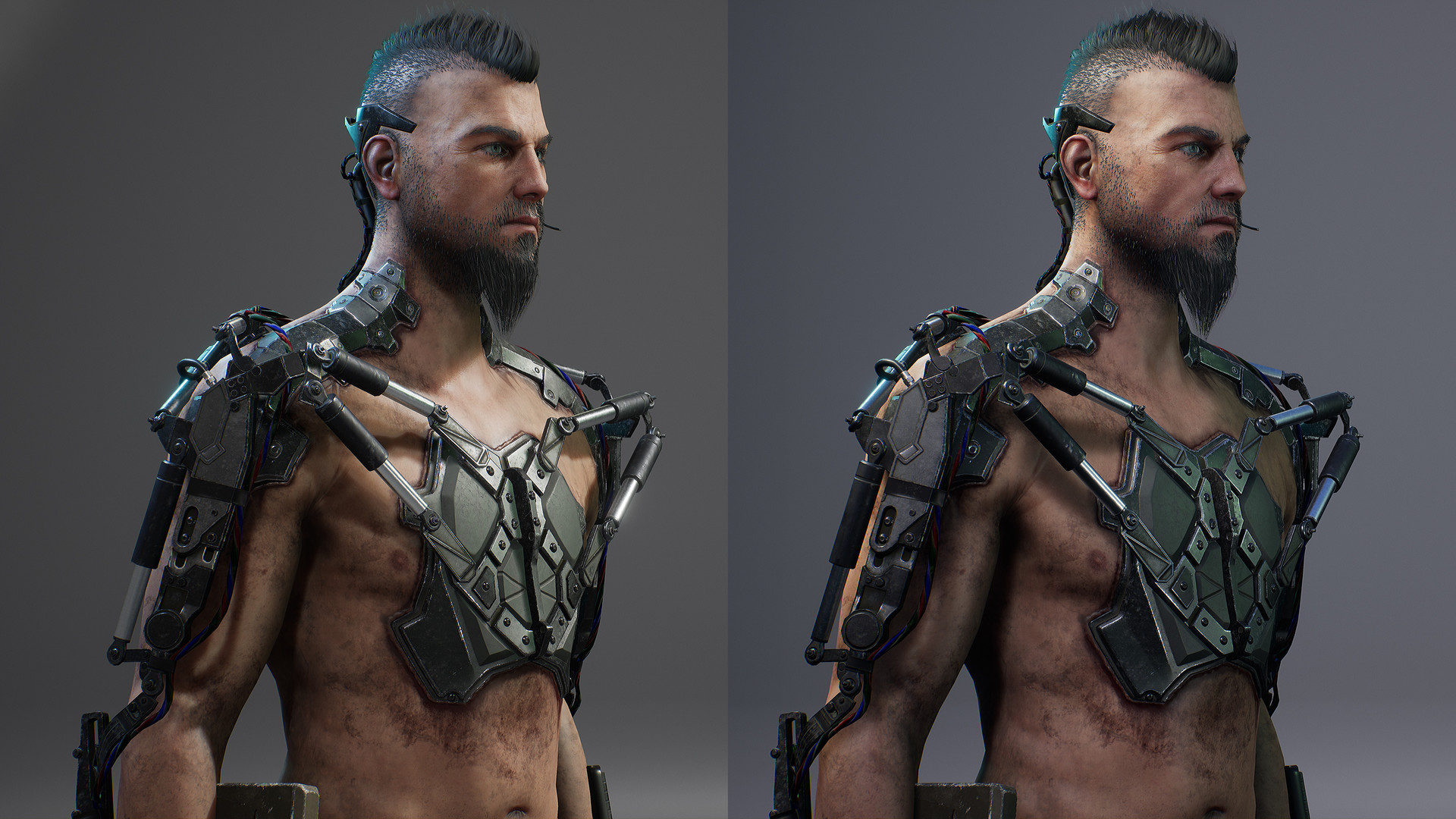 ArtStation - Realtime Character in Unreal Engine 4 for free, Manu Lopez