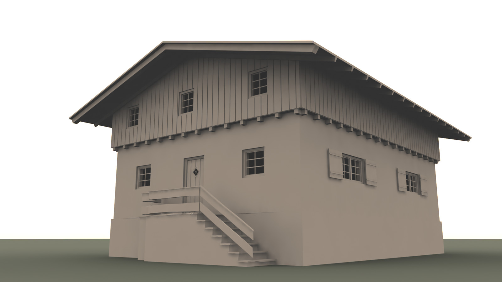 First version of the building.