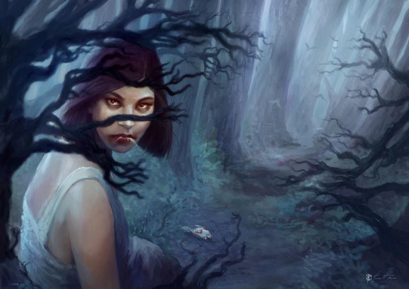 """""""The Prey""""  Fantasy illustration by Tiziana F. Ruiu"""