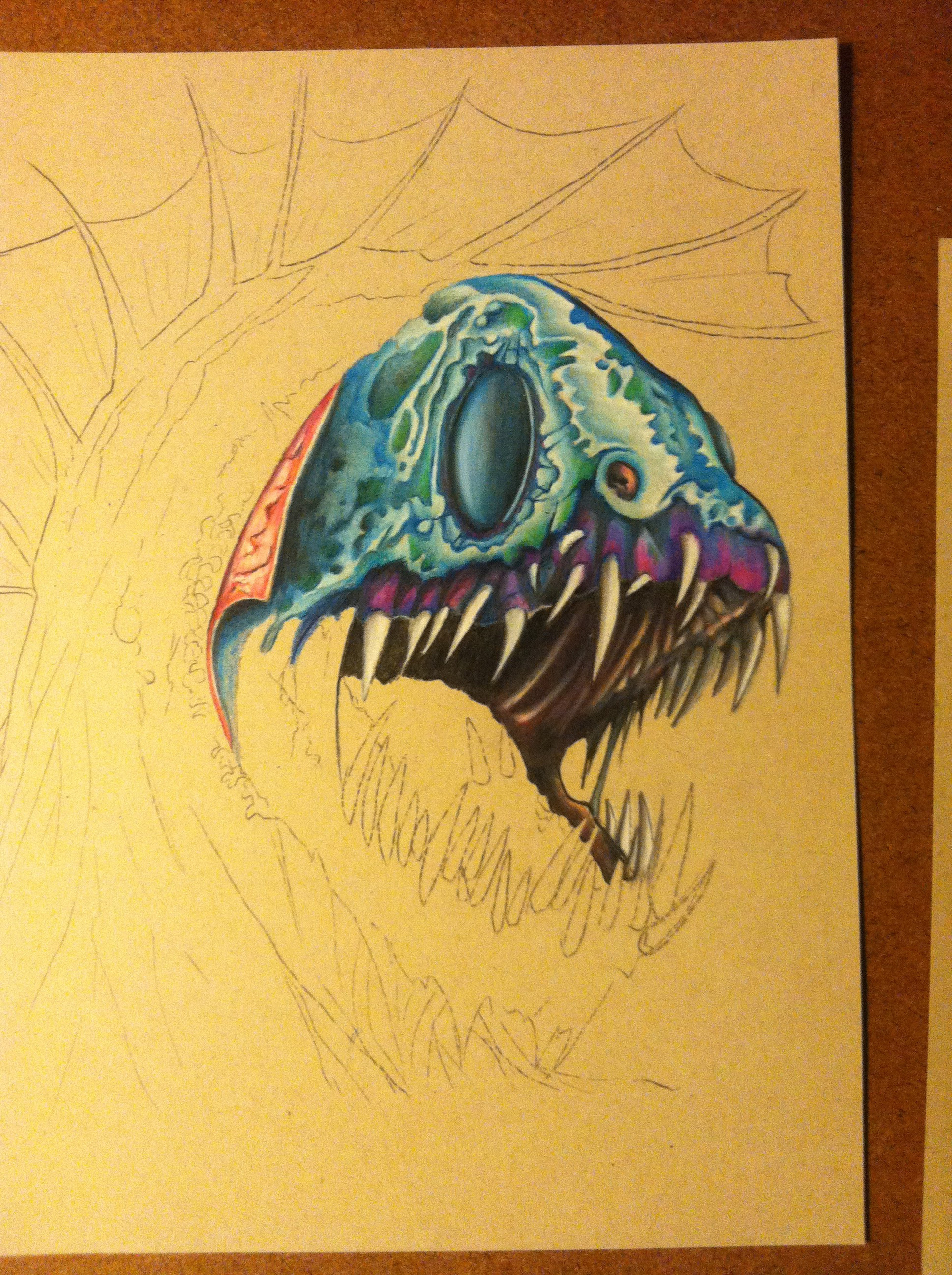Prismacolor pencil wip