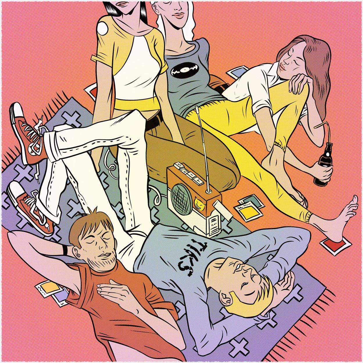 Digital poster art illustration