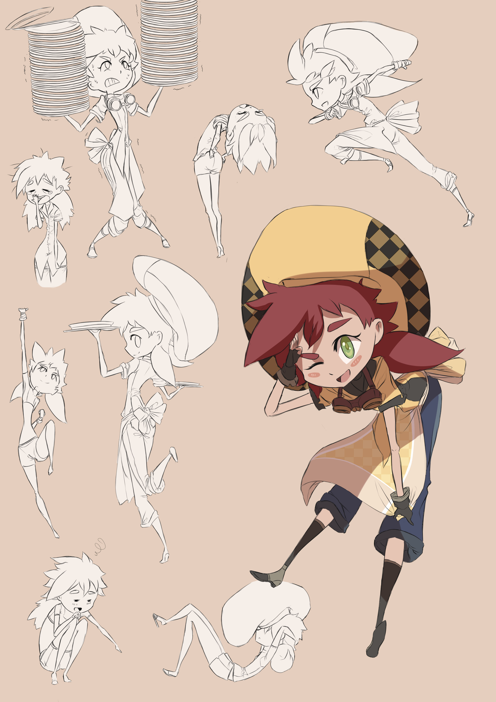 Bach do university work character design marie pose by dishwasher1910 daq8z6f